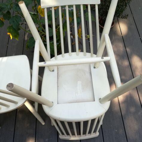 Suite De 4 Chaises Tellus D Ikea Annees 60 Selency