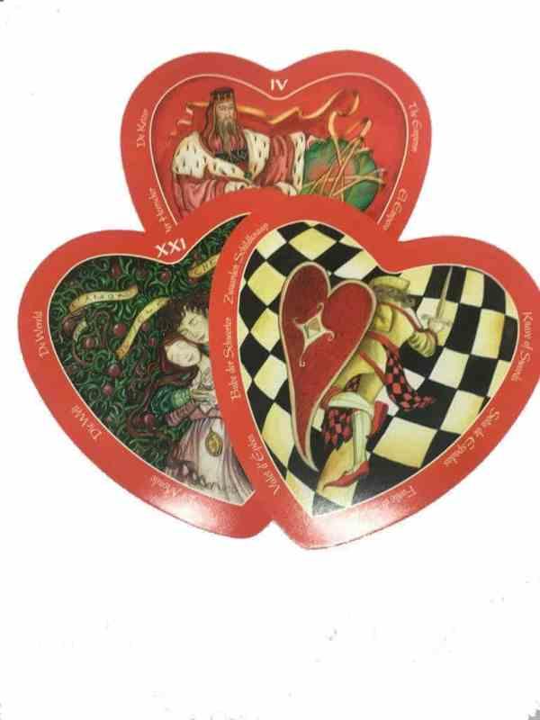 cartas forma corazon tarot del amor