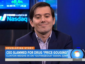 CNBC interview as Martin Shkreli stands by his 5000% increase in price. The price of a drug used to treat a life-threatening parasitic infection has increased from £8.40 per tablet to £485, after being acquired by a start-up founded by a former hedge fund investor. Turing Pharmaceuticals, founded by 32-year-old Martin Shkreli, acquired the drug Daraprim in August for £35 million and shortly raised the price of the treatment. Daraprim is used mainly to treat toxoplasmosis, an infection that can cause serious complications in people with weakened immune systems, such as AIDS patients, as well as in babies born to women who became infected during pregnancy. Mr Shkreli told the CNBC the start-up would use the money earned from the price hike to develop better treatments for the infection. Picture: Universal News And Sport (Europe) 22 September 2015