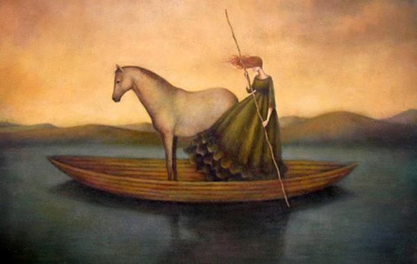 caballo-y-mujer-en-barco-representando-el-tiempo