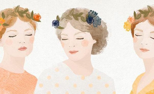 tres-mujeres-con-flores-en-pelo