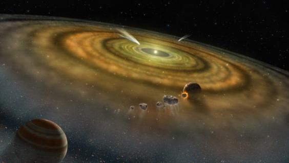 La vida podría haber surgido en el Sistema Solar antes de que la Tierra terminara de formarse.