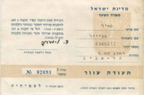 """This is Meir Schneider's blindness certificate. Issued in 1970 in Tel Aviv, it is marked """"Valid Permanently"""""""