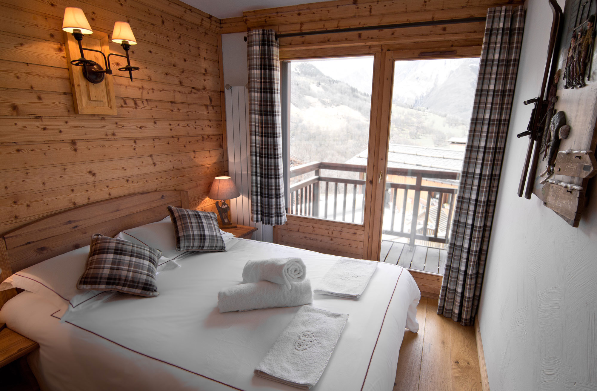 Chalet with balcony and mountain views in St Martin de Belleville.