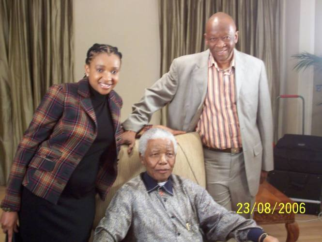 WELCOME MSOMI, his wife GUGU and MANDELA