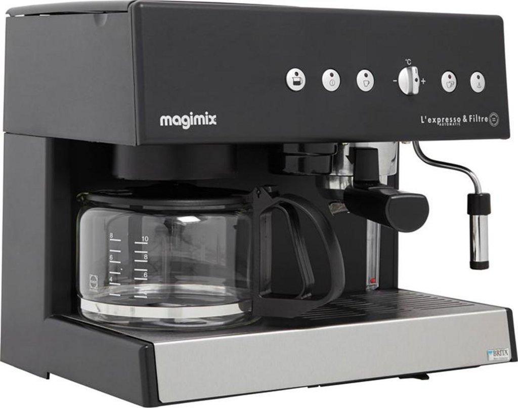 magimix cafetiere expresso combine auto noir 2010w 10 tasses 11422 selfdrinks com