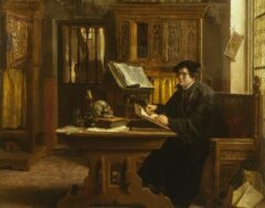 1898 --- Martin Luther Translating the Bible, Wartburg Castle, 1521 by Eugene Siberdt --- Image by © Fine Art Photographic Library/Corbis