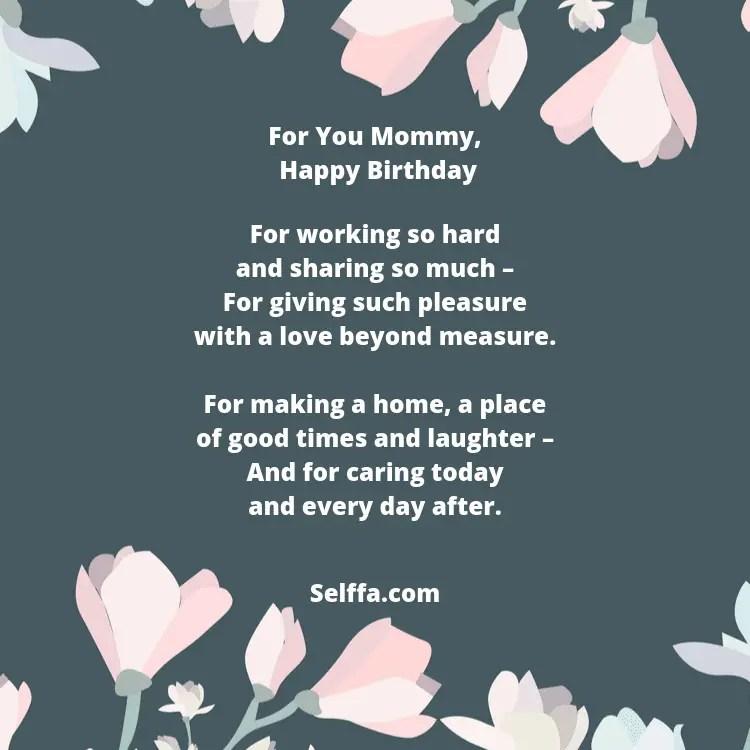 55 Birthday Poems for Moms - SELFFA