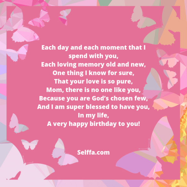 55 Birthday Poems for Moms - SELFFA