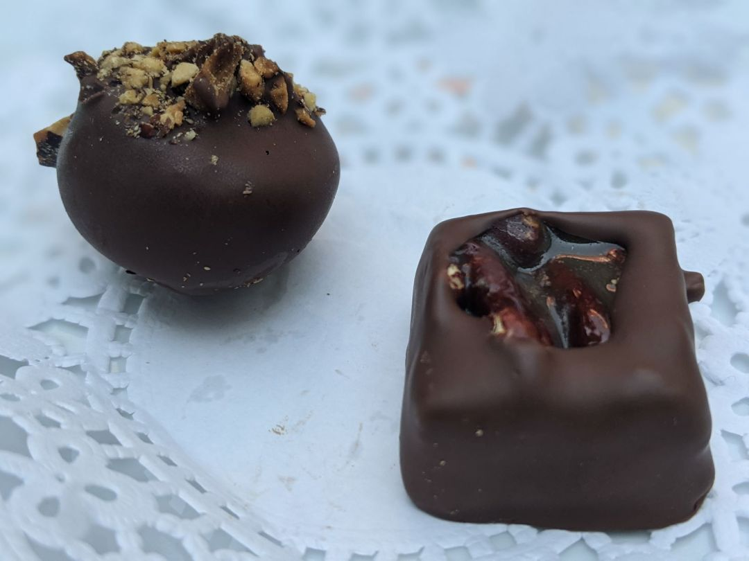 two small chocolates