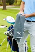 """""""18Birdies Swag Bags"""" including a leather shoe bag, polo shirt and more!"""