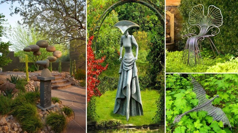 100 Ideas For Unusual Garden Sculptures | Garden Ideas