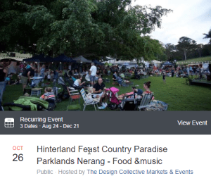 Hinterland Feast - The Design Collective @ Country Paradise Parklands | Nerang | Queensland | Australia