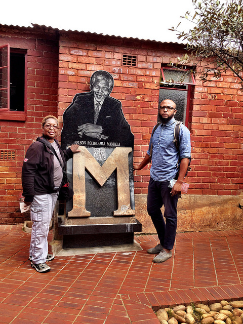 My GodSon and me at Mandela House - taken with an iPhone 4S and processed in Camera+ app