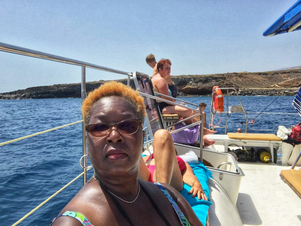 Me on a whale watching cruise in Tenerife, Canary Islands - take with an iPhone7