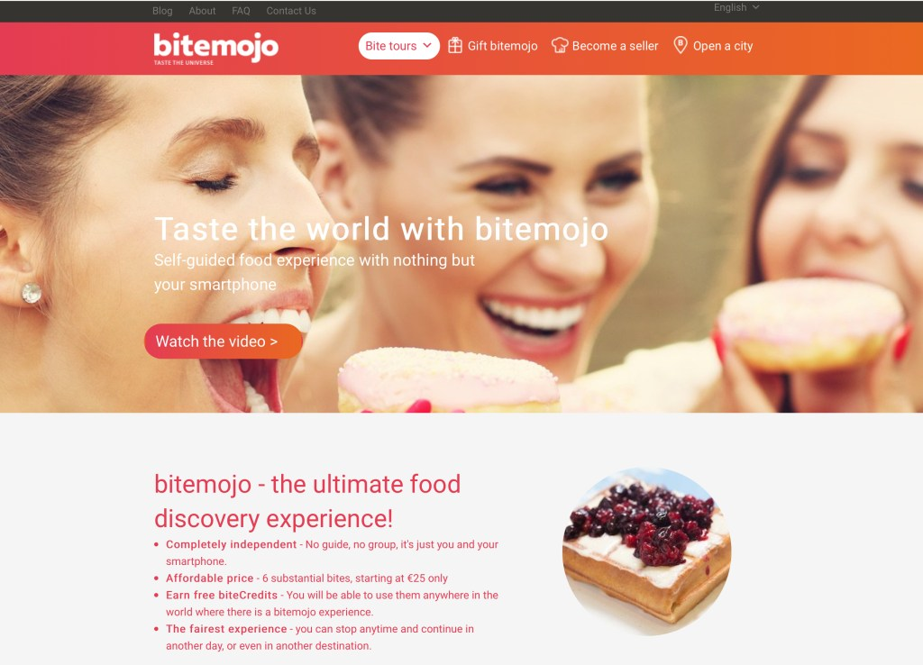 bitemojo.com website homepage