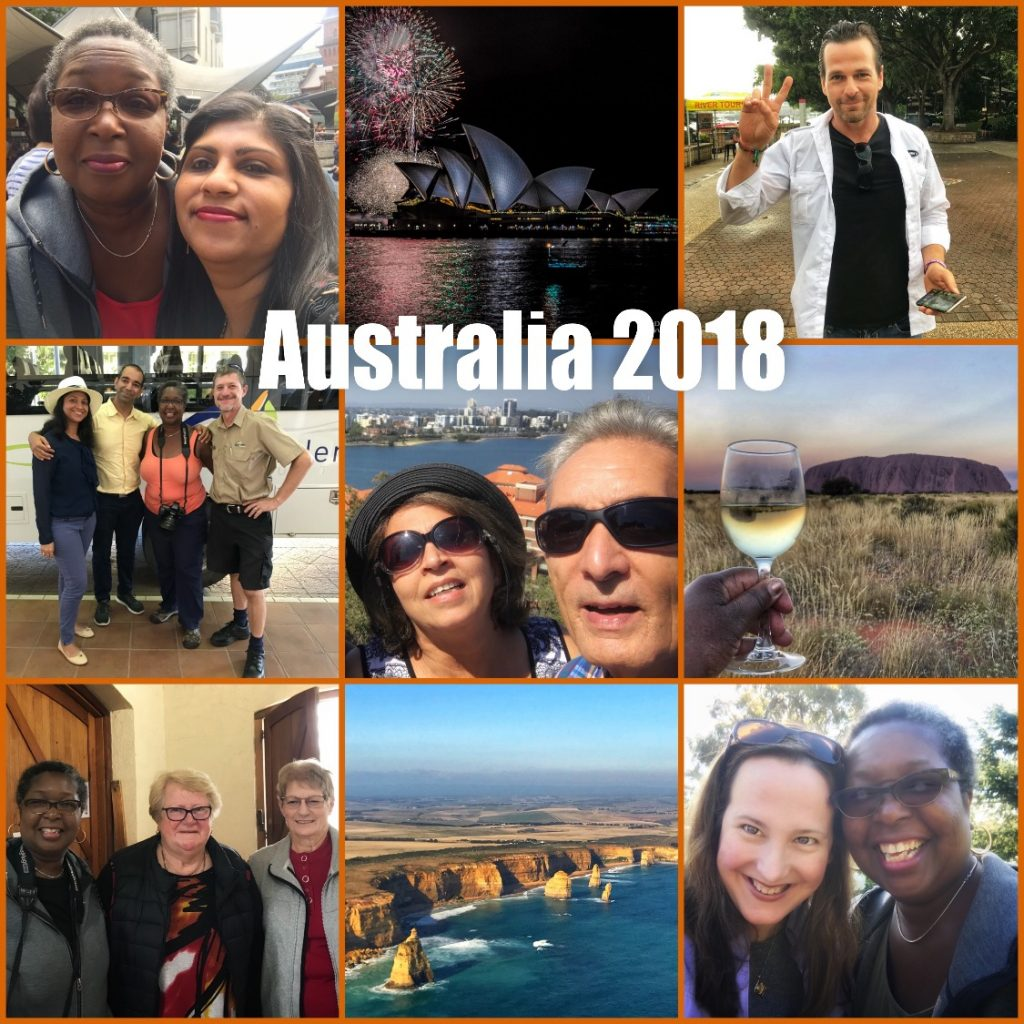 Picture collage of my visit to Australia in 2018