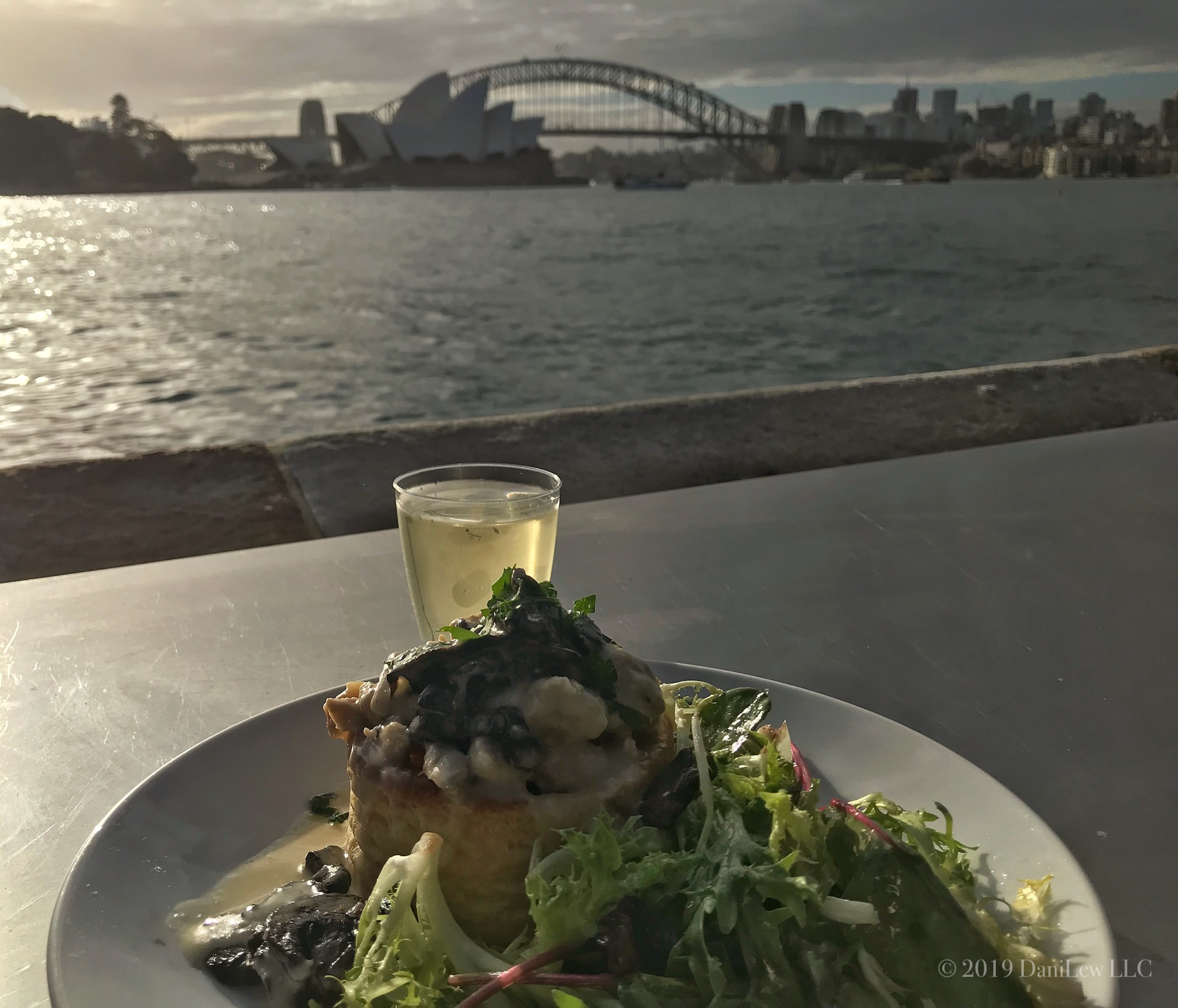Sydney Harbor view from outdoor Handa Opera - image taken with an iPhone 7