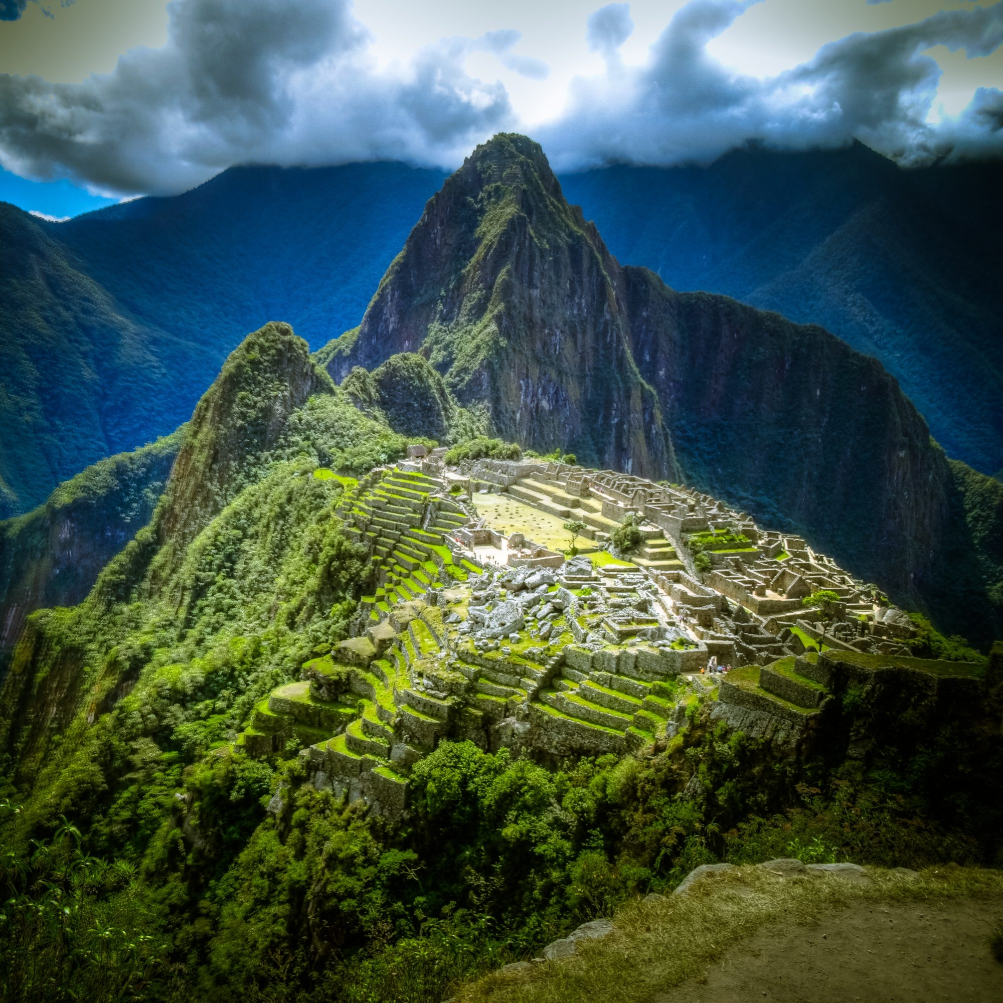Aerial view of Machu Picchu, Peru and UNESCO World Heritage site on SelfishMe Travel LLC