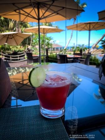 Raspberry Margarita in Beau Vallon, Seychelles on SelfishMe Travel