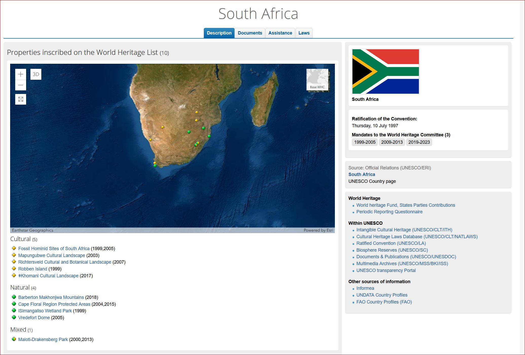 South Africa UNESCO World Heritage Sites on SelfishMe Travel