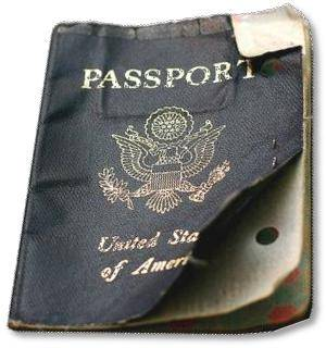 passport damage on SelfishMe Travel blog