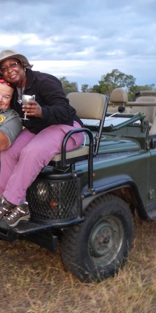 DaniLew and Tydon Safaris driver/guide on Slow Traveling Soul Sister blog post