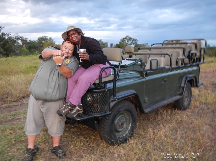 me and Tydon Safaris driver/guide on Slow Traveling Soul Sister blog post