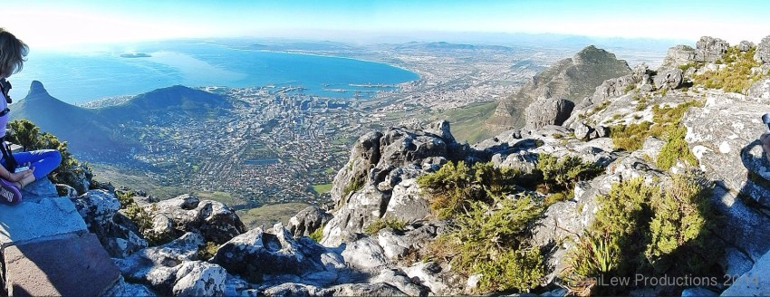 View of Cape Town from Table Mountain on Slow Traveling Soul Sister blog post