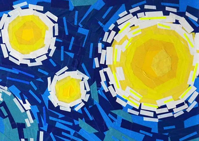 Berlin Starry Night-Van-Gogh-Ostap-tape-art-close-up-02