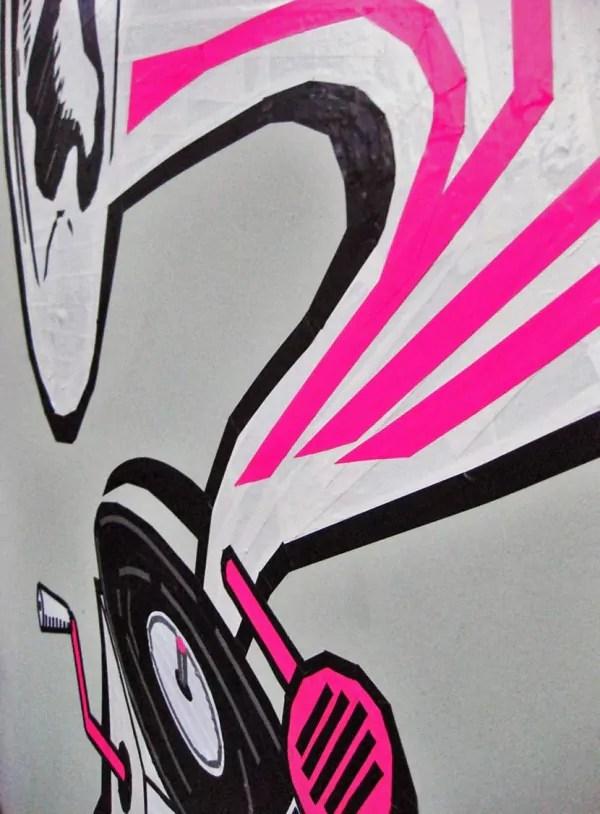 DJ Taub-Gaffa Klebeband Graffiti- Nahaufnahme