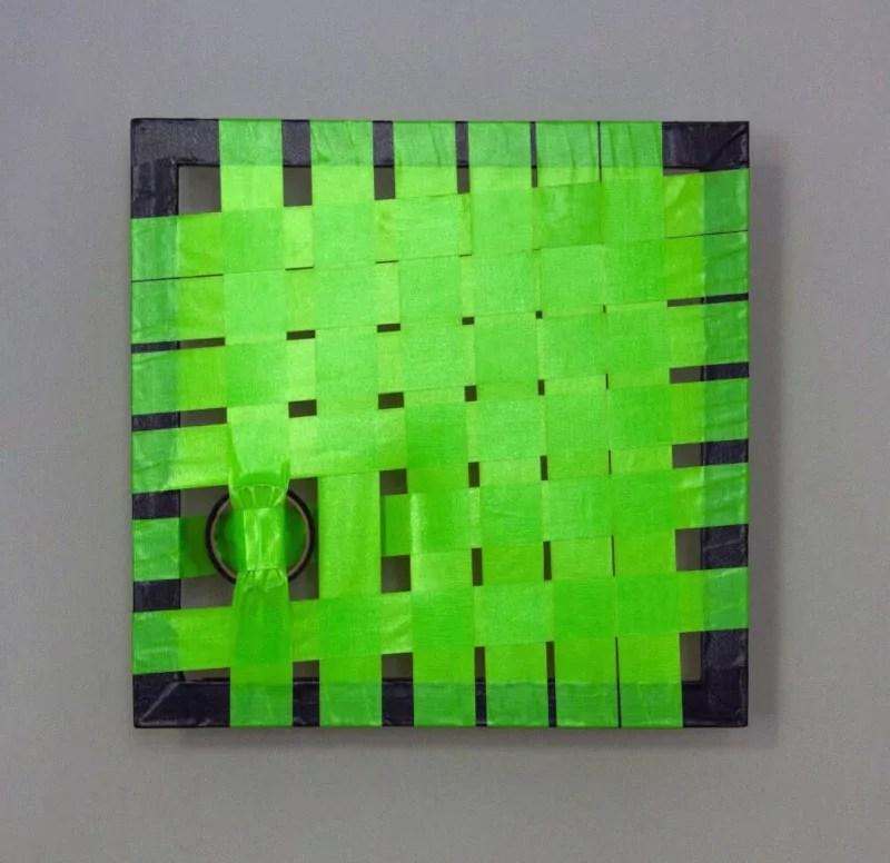 Green-Abstraktes Kunst- Gewebtes Klebeband- Ostap 2013