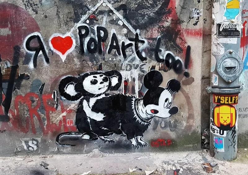I love pop art too-stencil street art by Ostap-Berlin 2016