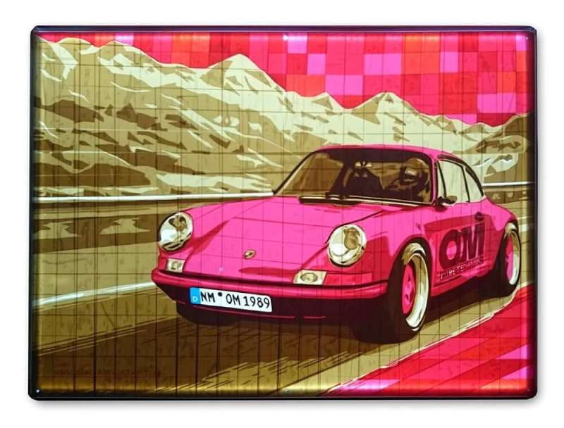 Porsche 911-packing tape artwork- commission- Ostap 2015