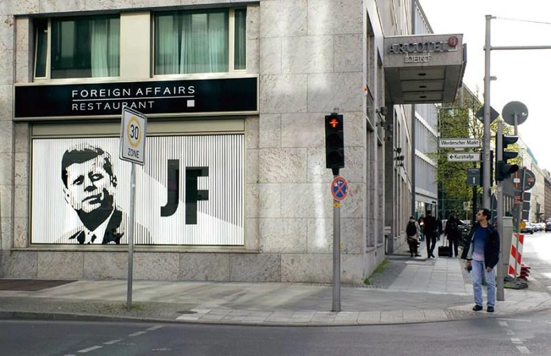 Post image 2- Tape street art by Ostap - Portrait of John F Kennedy