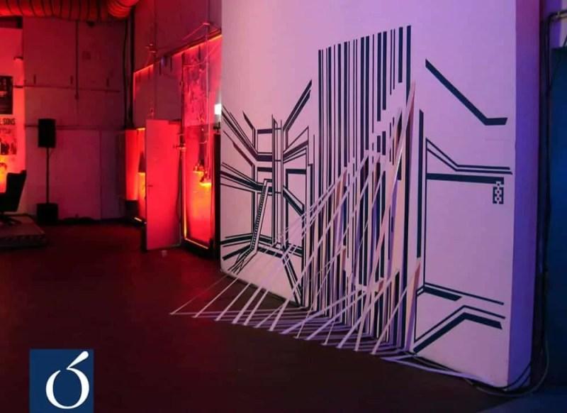 3D-Klebeband-Installation-geklebt-Live-Corio-Event