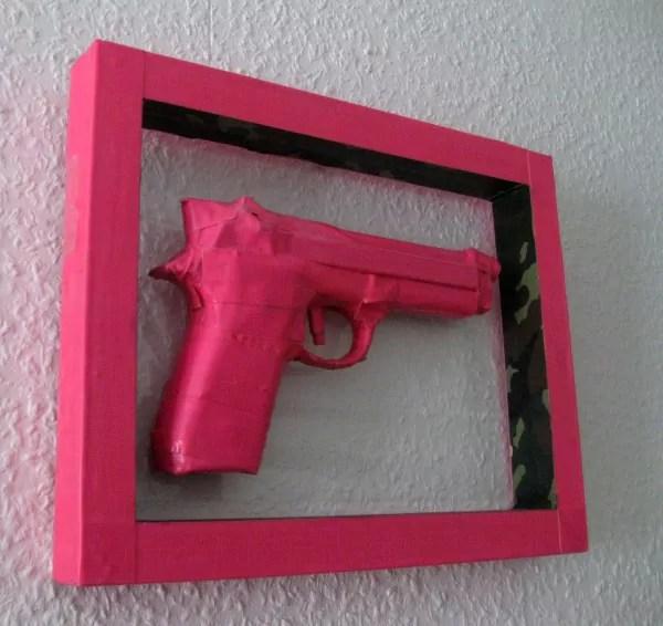 Happy Valentine-pink gun sculpture -Image 02
