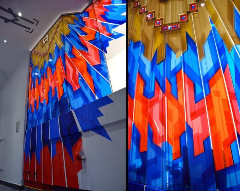 Packing tape art- The Haus- Berlin Art Bang Exhibition