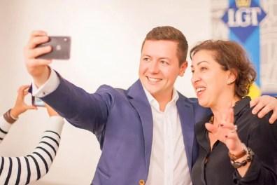 Selfie with finished artwork- Happy workshop participator