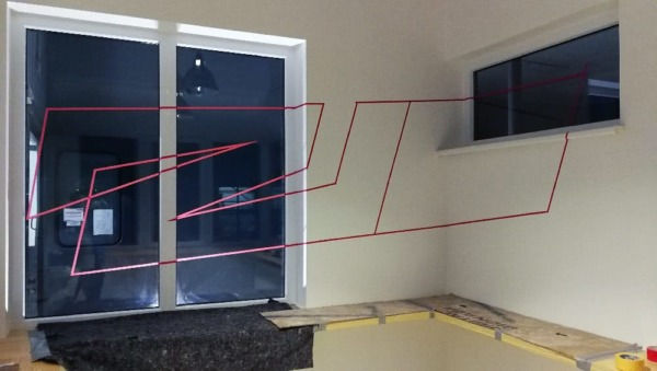 Flying Steps Projekt- Raumgestaltung mit Klebeband