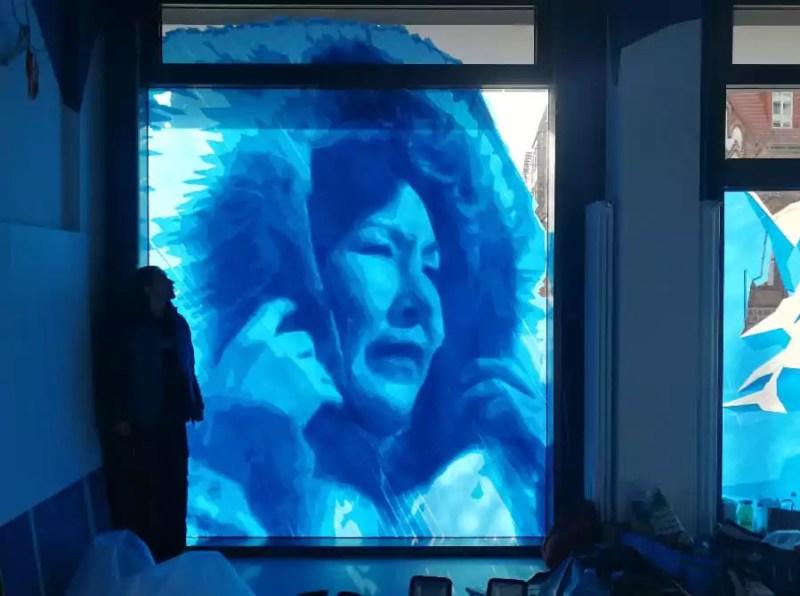 Ice cold Tape Art at Alexanderplatz- Berlin 2018