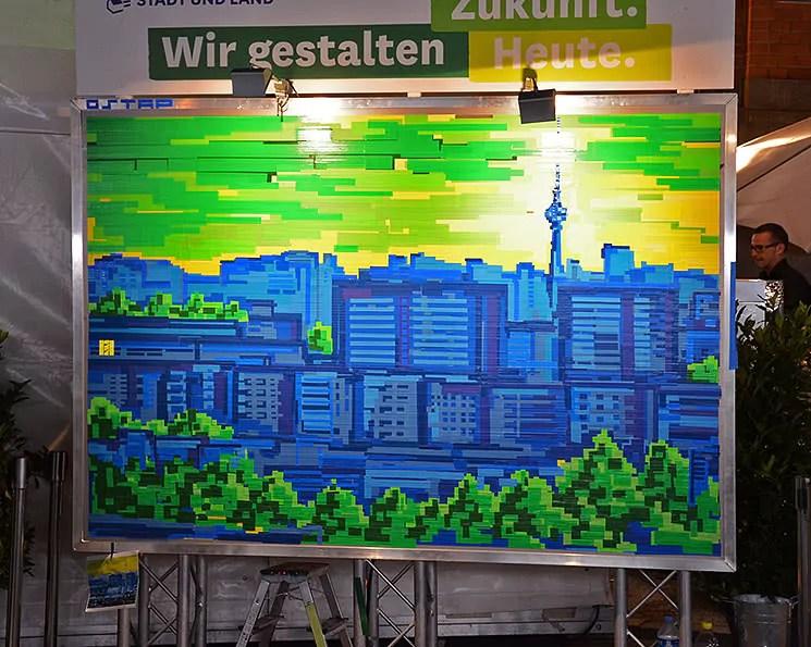 Berliner Platte- Pixel Tape Art Live Show- Stadt und Land