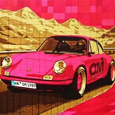 Porsche 911- Packband Kunstwerk- Eine Auftragsarbeit von Ostap 2015-Vorschaubild