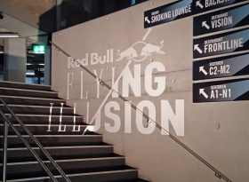 Tape-Art für Red Bull bei Flying Illusion Show 3