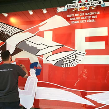 Tape Street Art Projekt- Red Bull Flugtag Zürich 2016