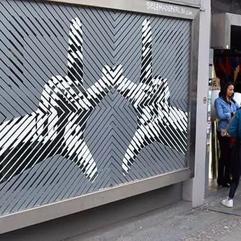 Tape-Graffiti-Op Art- The Haus Berlin