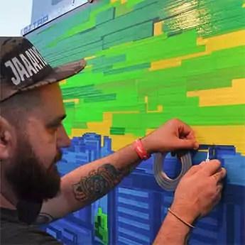 Tape Art Live Show für Stadt und Land- Vorschaubild
