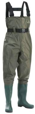 Waterproof Insulated Breathable Nylon and PVC Cleated Bootfoot Chest Fishing Waders