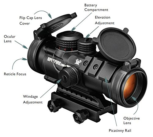 Vortex Optics Spitfire Prism Scopes 3x - EBR-556B Reticle