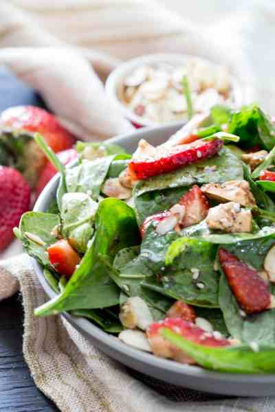 Spinach Berry Salad | Eazy Peazy Mealz